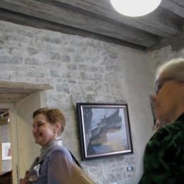 Under medeltida valv på Kunstisalong Allee, Tallinn