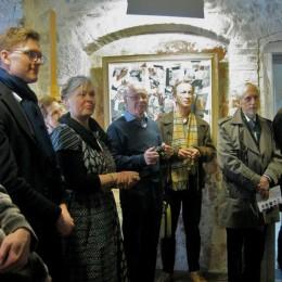 Under medieval vaults at Kunstisalong Allee, Tallinn, Estonia