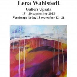 Lena Wahlstedt 'Stråk av färg' isiknäitus, Galleri Upsala 1810, Uppsala, Rootsi