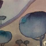 Eha Arg-Blå träd