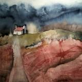 Ann (AnnJo) Johansson-Huset på höjden ii, 2016, 40x50 cm