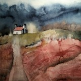 ann-annjo-johansson-huset-pa-hojden-ii-2016-40x50-cm