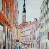 Bertil Eriksson-Gatuvy med Tallinns stadshustorn