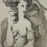 Lara Simonof-Kvinna med glas