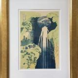 Katsushika Hokusai-Amida waterfall