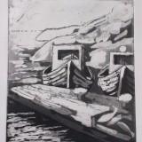 Irene Hansson-Båt vid klipphällen