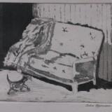 Irene Hansson-Katt pâ väg till soffan / Chat sur le chemin du canapé