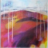 Lena Wahlstedt-Färgstråk mellan träd