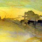 Naemi Bure-Solnedgång över ett landskap 1