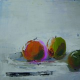 Lena Ehn-Äpplen med kniv