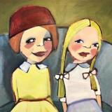 Elisabet Linna-Persson-Två små damer på väg