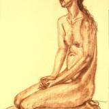 Kristin Irén Dijkman-Nude sitting