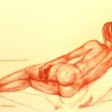 Kristin Irén Dijkman-Nude lying down
